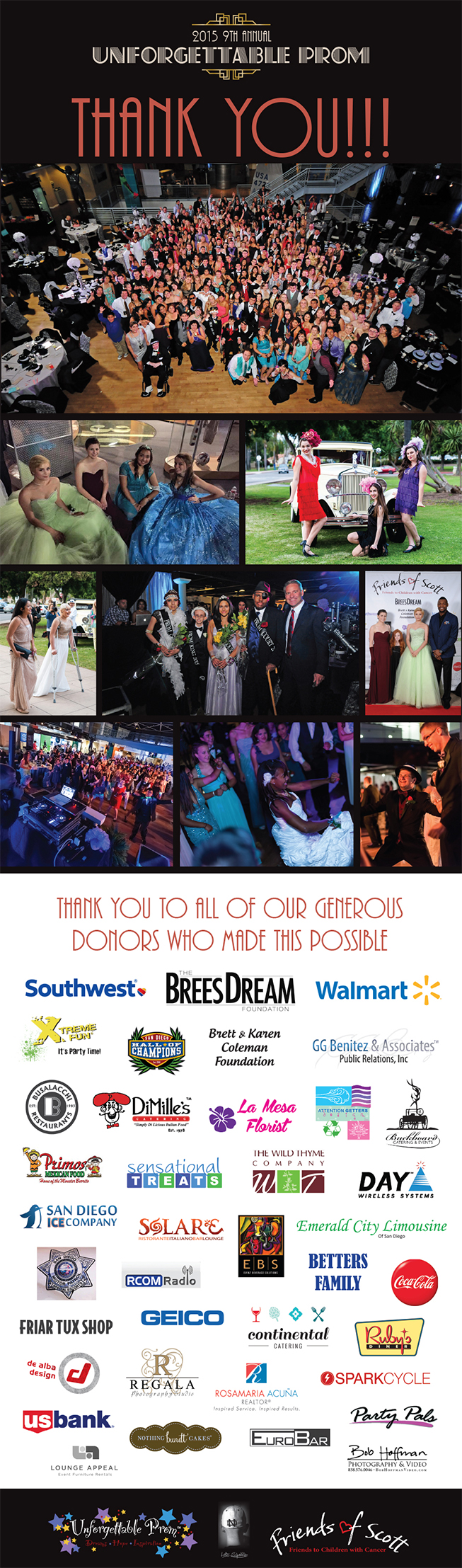 Newsletter 2015 9th Annual Unforgettable Prom :: Thank You!