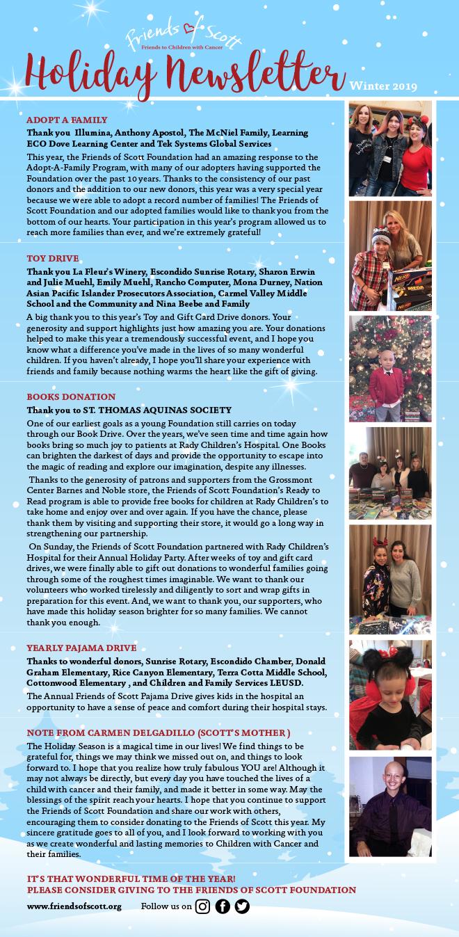 Friends of Scott Foundation Winter 2019 Newsletter