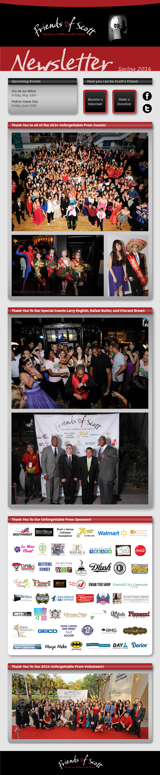 Thank you to all the 2014 Unforgettable Prom Guests and Sponsors