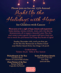 2018 Light Up the Holidays with Hope Flyer